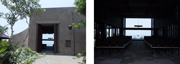 モダンでスタイリッシュなブルガリチャペルの外観と内観