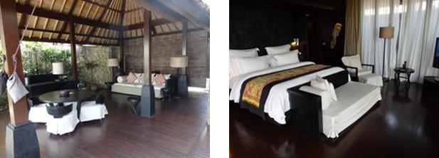 開放感のあるオープンリビングルームと高級感あるベットルーム